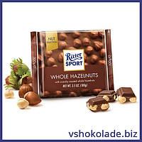 Риттер Спорт - Молочный шоколад с цельными лесными орехами