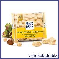 Риттер Спорт - Белый шоколад с цельными лесными орехами
