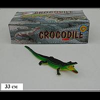 Крокодил Гонконг H 38 W резиновый с пищалкой, в коробке, 35,5*10*18,7, игрушка-пищалка