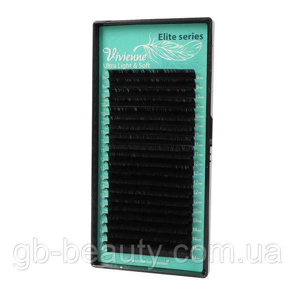 Черные ресницы серия Elit софт на ленте 0,07 C 10 (20 линий)