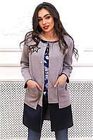 Кардиган-пальто из неопрена с нашивками 90276/1, фото 1