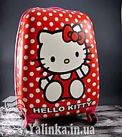 Чемодан дорожный на 4-х колесах Hello Kitty 108HK