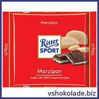 Риттер Спорт - Черный шоколад с марципаном