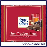 Риттер Спорт - Ямайский ром, изюм и орехи
