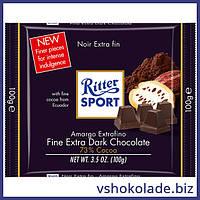 Риттер Спорт - Экстра чёрный шоколад