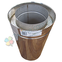 Труба дымоходная сэндвич d 160 мм; 0,8 мм; AISI 304; 50 см; нержавейка/нержавейка - «Версия Люкс»