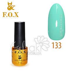 Гель-лак Fox №133, 6 мл (бирюзовый)