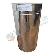 Труба дымоходная сэндвич d 110 мм; 1 мм; AISI 304; 50 см; нержавейка/нержавейка - «Версия Люкс», фото 3