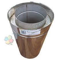 Труба дымоходная сэндвич d 160 мм; 1 мм; AISI 304; 50 см; нержавейка/нержавейка - «Версия Люкс», фото 2