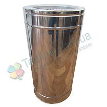 Труба дымоходная сэндвич d 160 мм; 1 мм; AISI 304; 50 см; нержавейка/нержавейка - «Версия Люкс», фото 3