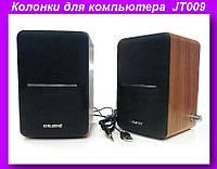 Музыкальные колонки для компьютера 2.0 JT009,Колонки для компьютера