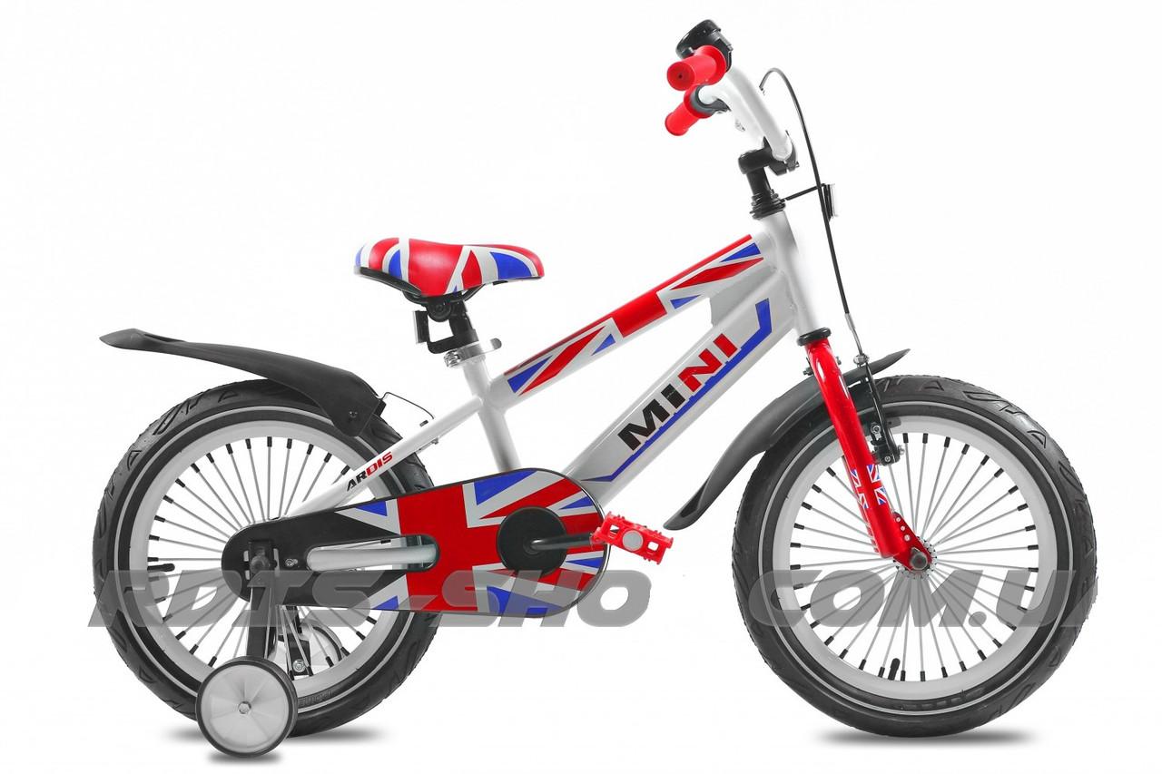 """Детский велосипед Ardis MINI R16"""" (Бело-красный)"""