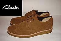Туфли мужские замшевые коричневые Clarks  43,44р.
