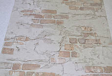 Обои, светлые, кирпич, на стену, виниловые, супер-мойка, 0,53*10м, ограниченное количество, фото 3