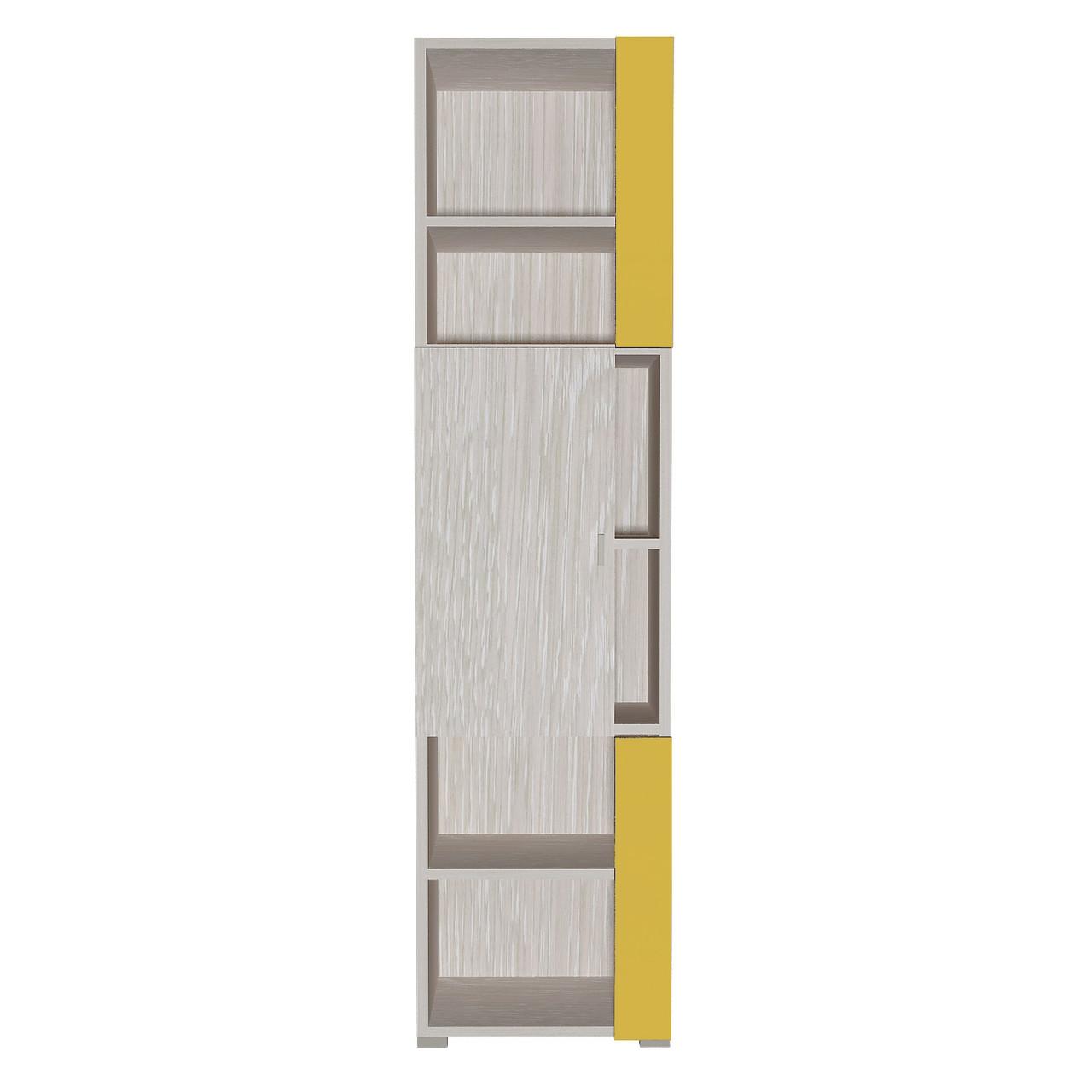 Шафа в дитячу кімнату з ДСП/МДФ AXEL F Blonski 1 дверна атланта+жовтий