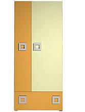 Шафа в дитячу кімнату з ДСП/МДФ Labirynt-1 ваніль+жовтий Blonski