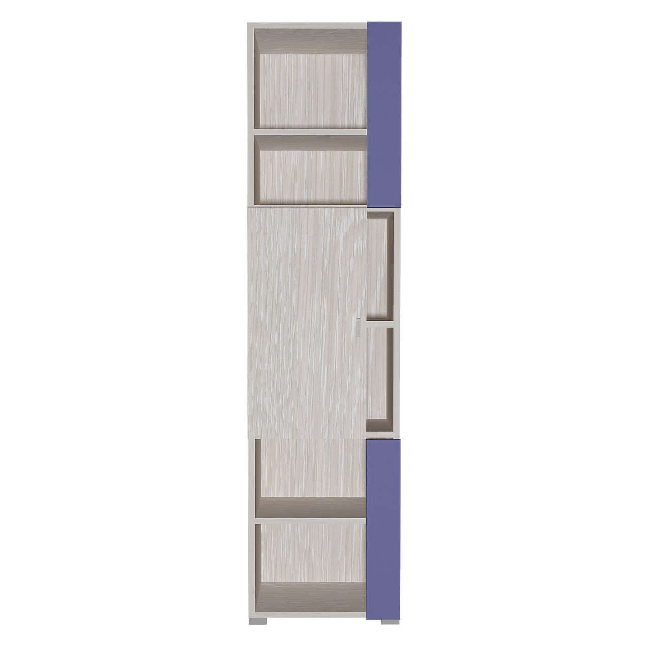 Шафа в дитячу кімнату з ДСП/МДФ AXEL F Blonski 1 дверна атланта+фіолет синій