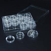 Органайзер для бисера и алмазов 12 баночек (13х9,5х2см)