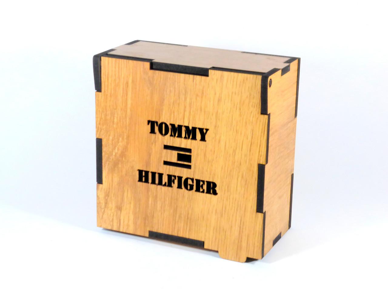 Подарочная деревянная коробка для ремней TOMMY HILFIGER (реплика)