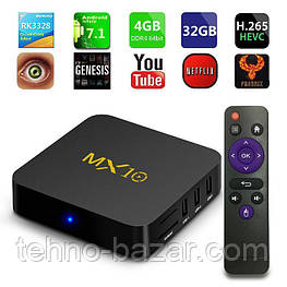 TV Box MX10 4/32gb RockChip RK3328