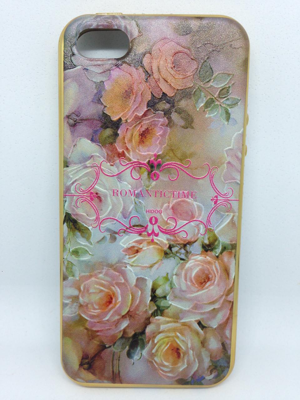 Чехол iPhone 5/5s/SE Flowers&Diamonds 1