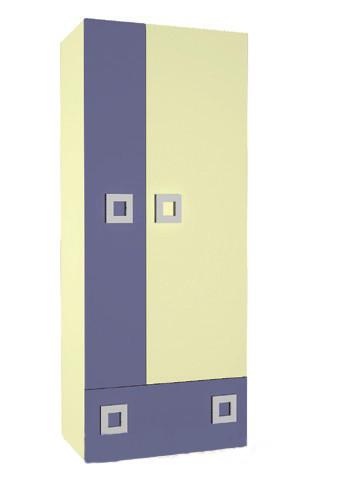 Шафа в дитячу кімнату з ДСП/МДФ Labirynt-1 ваніль+синій Blonski