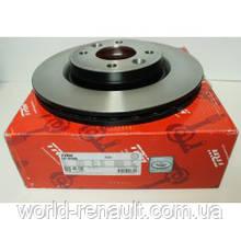 Передний тормозной диск на Рено Логан 2, Логан МСV 2, Сандеро Степвей 2 D=258мм/ TRW DF6186