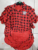Рубашка в клетку для девочки (4-14р)
