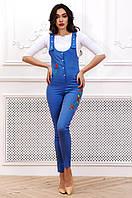Стильный женский длинный комбинезон с вышивкой 90271/1