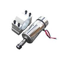Электро шпиндель 400 Вт 12-48 В с кронштейном  для ЧПУ фрезерного станка с воздушным охлаждением, ER11 патрон