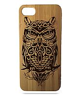 """Дерев'яний чохол  Wooden Cases для Apple iPhone 6/6s з лазерним гравіюванням """"Owl"""""""