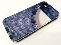 Чехол накладка противоударная Remax Cover JeansShok для iPhone 5 / 5s / 5se