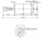 Электро шпиндель 400 Вт 12-48 В для ЧПУ фрезерного станка с воздушным охлаждением, ER11 патрон, фото 2