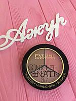 Палитра для макияжа лица Eveline Cosmetics Contour Sensation
