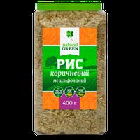 Рис коричневый цельнозерновой нешлифованный, Natural Green, 400г