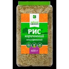 Рис коричневый цельнозерновой нешлифованный, Natural Green, 400г - Екотерия, продукты здорового питания в Киеве