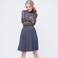 50b61a7935e Женская плиссированная юбка в складку Серая