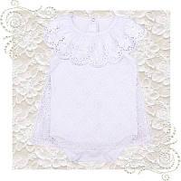 Боди платье для крещения девочки нарядный белый бодик, фото 1