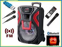 Мобильная акустика EUROMAX EU-1204 USB/FM/Bluetooth на 3 микрофона