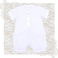 Костюм полукомбинезон для крещения мальчика нарядный костюм, фото 1