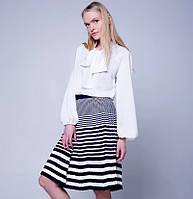 Женская плиссированная юбка в складку в полоску, фото 1