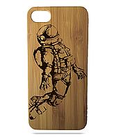 "Дерев'яний чохол  Wooden Cases для Apple iPhone 6/6s з лазерним гравіюванням ""Сosmonaut"" Бамбук"