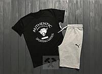 Летний спортивный костюм, комплект Puma (футболка + шорты)
