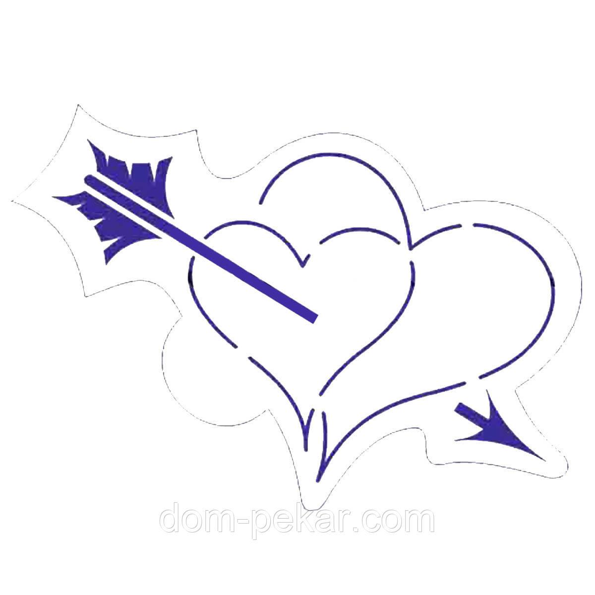 Трафарет Сердца со стрелой 10 см