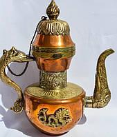 Антикварный чайник,кофейник,заварник! Дракон! Азия-Персия. Медь! 0,6 л.