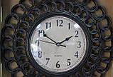 Часы настенные, коричневые, затертость под бронзу, арабские цифры, фото 3