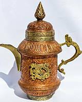 Антикварный чайник,заварник! Дракон! Азия-Персия. Медь! 0,650 л.