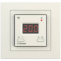 Терморегулятор для теплого пола с wi-fi управлением terneo ах unic слоновая кость