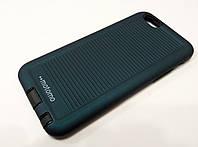 Чехол накладка противоударная Motomo Sport (Stripes) для iPhone 6 / 6s темно-синий