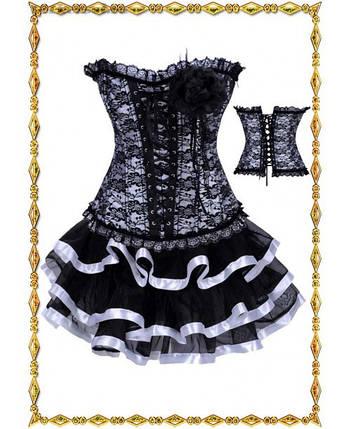 Кружевной женский корсет на завязках, фото 2